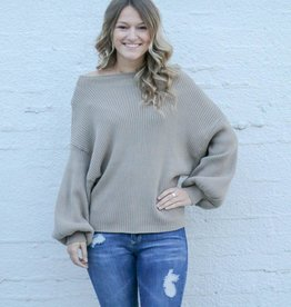 Slouch Neck Knit Sweater