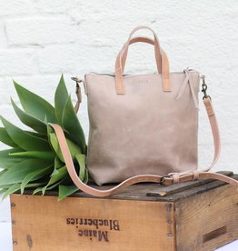 Two Tone Leather Commuter Bag