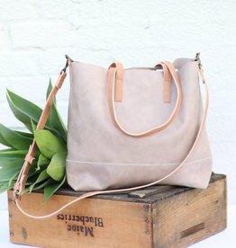 Two Tone Leather Crossbody Bag