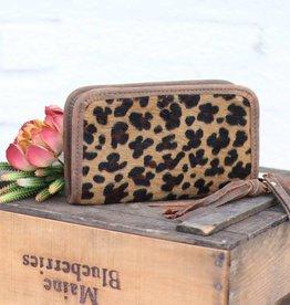 Leopard Hair Clutch Organzier