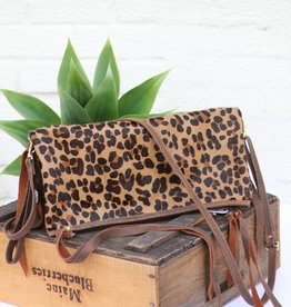 Leopard Envelope Satchel Purse