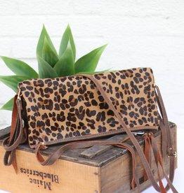 Leopard Envelope Satchel Purse