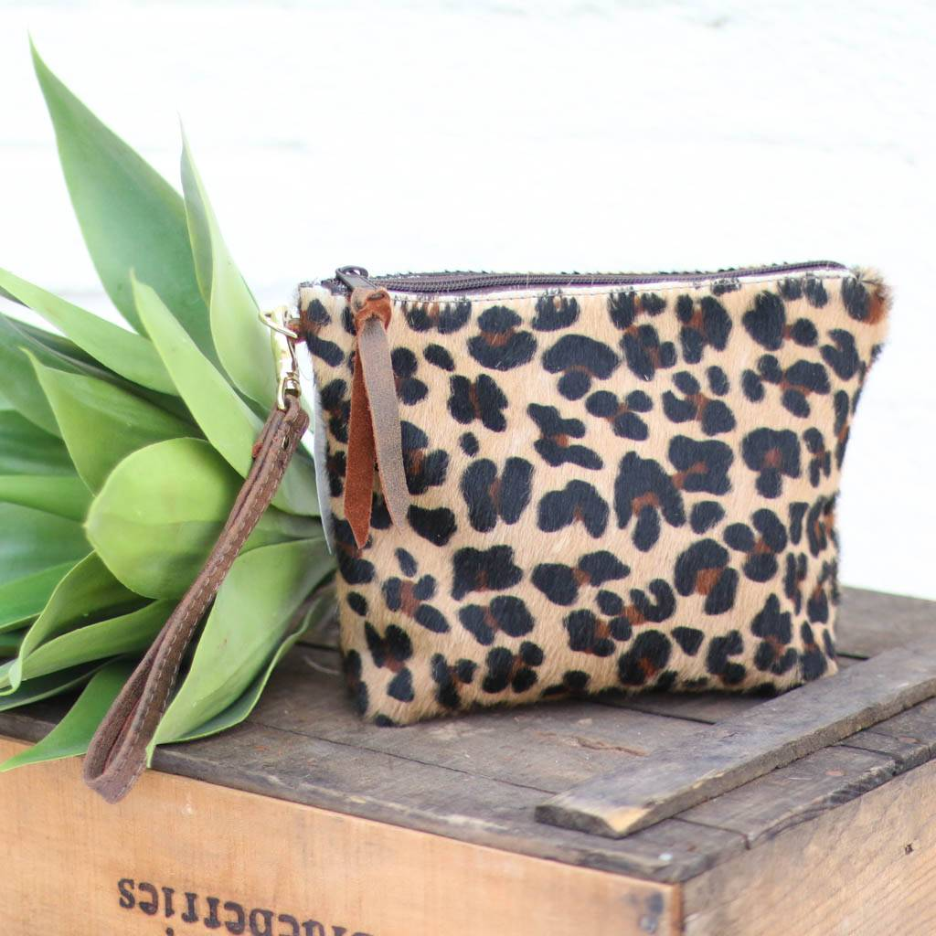 Leopard Large Travel Pouch