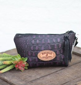 Punchy's Purple Gator Small Makeup Pouch