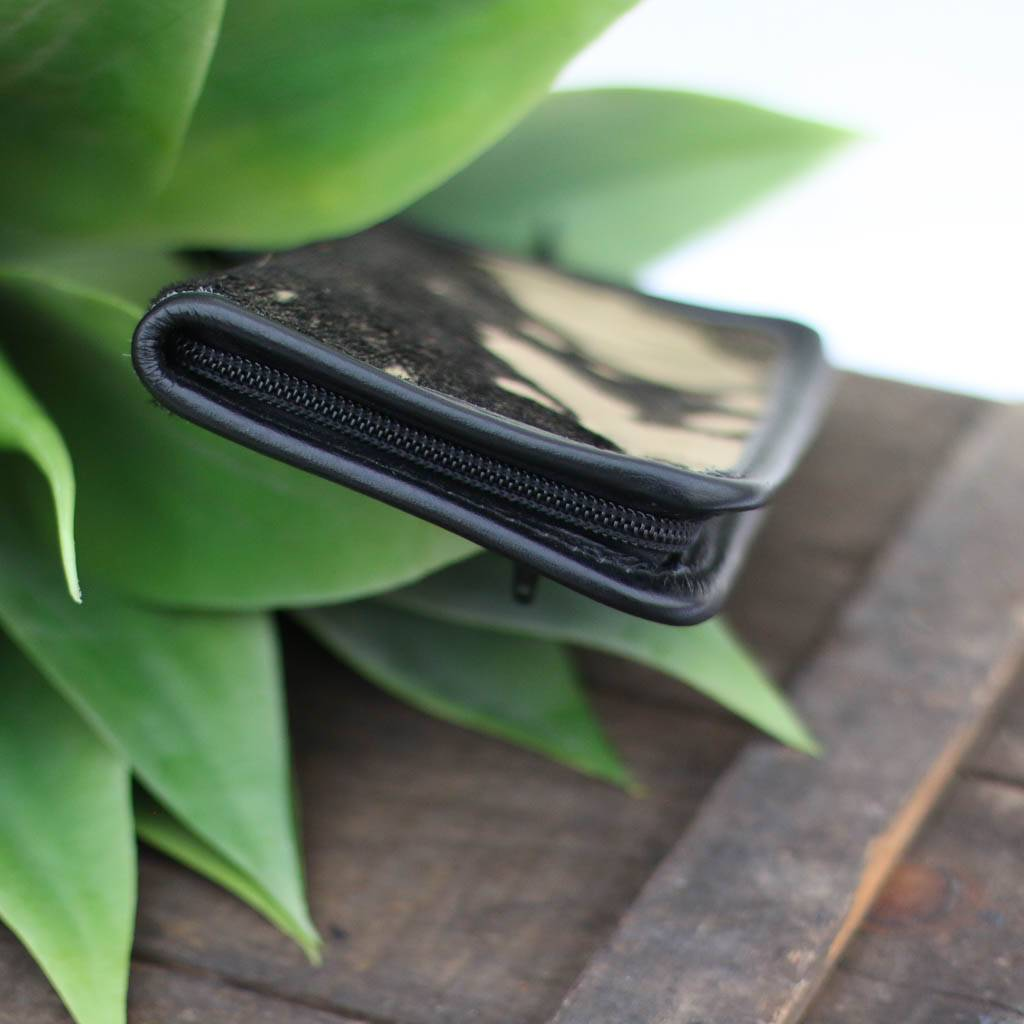 Gold & Black Acid Wash Zipper Wallet