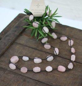 Braided Rose Quartz Necklace