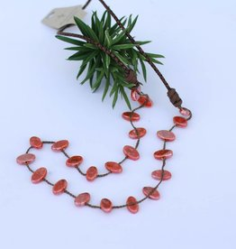 Terracotta Glaze Leather Necklace