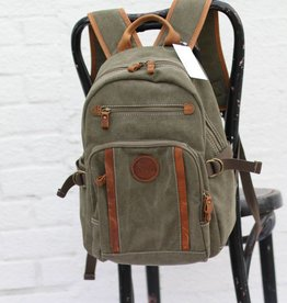 Men's Canvas & Leather Backpack