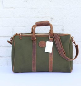 Women's Canvas & Leather Weekender Bag