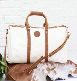 Women's Canvas & Leather Duffle Bag