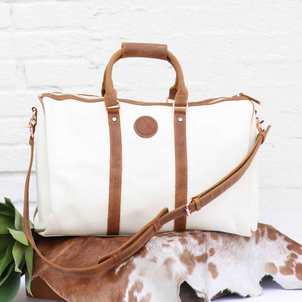Punchy S Women Canvas Leather Duffle Bag