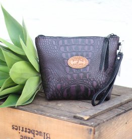 Punchy's Purple Gator Large Travel Pouch