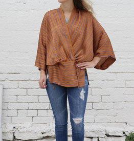 Stripe Kimono Wrap