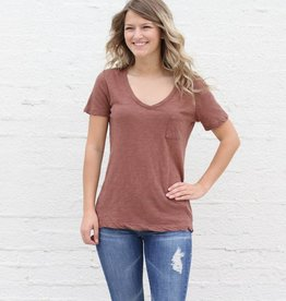 Burnout Rust Pocket Tee