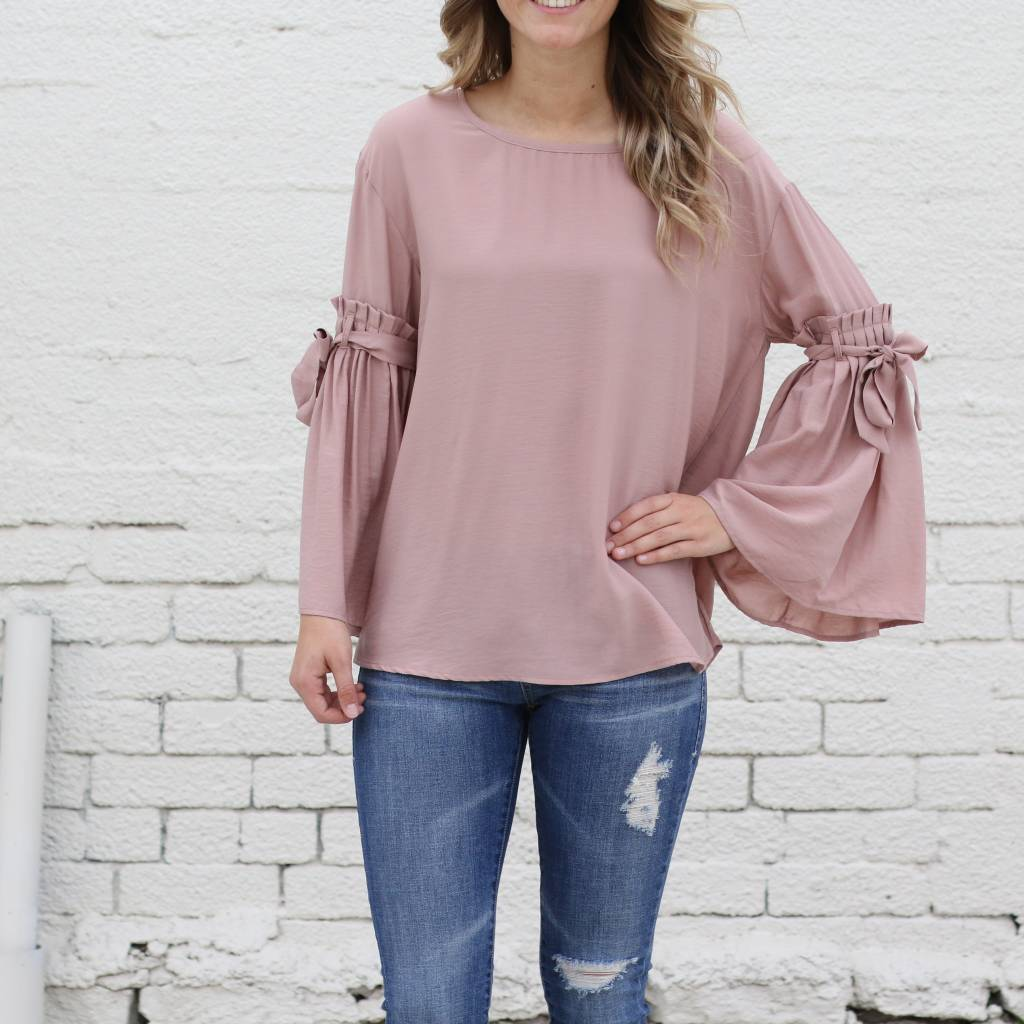 Ruffle Bell Sleeve Blouse