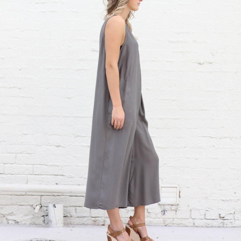 Sleeveless Wide-Leg Jumpsuit