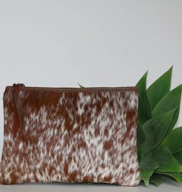 Roan Cow Hair Leather Medium Clutch