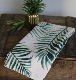 Palm Print Cotton Kitchen Towel