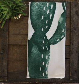 Cactus Print Cotton Kitchen Towel
