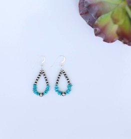 Punchy's 1 1/4in Mini Navajo Pearl and Chipped Turquoise