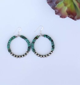 2in Turquoise and Navajo Pearl