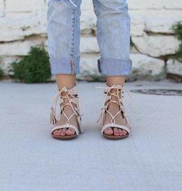 Light Pink Suede Gladiator Sandal