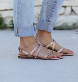 E.S. Originals Rose Gold Gladiator Sandal