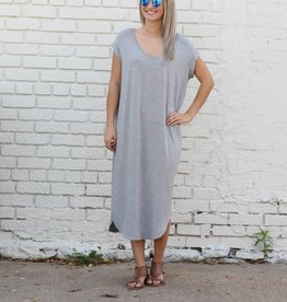 Cap Sleeve Basic Shirtdress