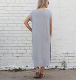 Cap Sleeve Basic Shirtdress