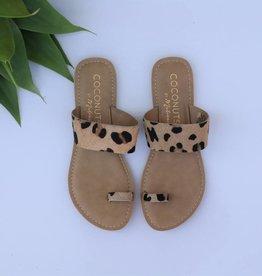 Leopard Cowhide Sandal