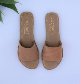 Tan Suede Leather Slide Sandal
