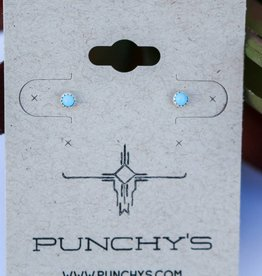 Sterling Silver Tiny Turquoise Stud