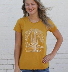 Mustard Cactus Graphic Tee