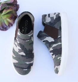 High Top Slip On Camo Sneakers