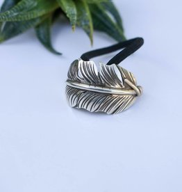 Sterling Silver Feather Hair Tie