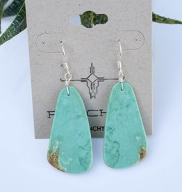 1 1/2'' Compressed Kingman Turquoise Earring