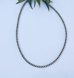 3mm Saucer Bead 16in Navajo Pearls