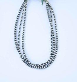 Three Strand Navajo Pearls 18in