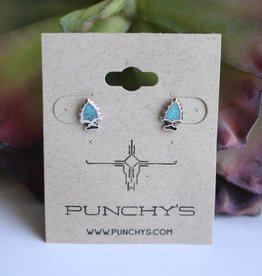 Small Arrowhead Stud with Turquoise