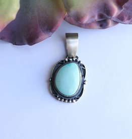 Scrolled Mexican Turquoise Pendant