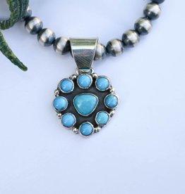 Turquoise Flower Pendant