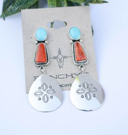 Punchy's The Olivia Earrings Orange Spiny Oyster