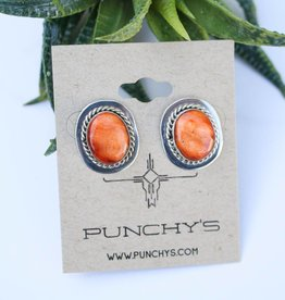 Punchy's Spiny Oyster Oval Rope Stud