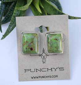 Green Turquoise Rope Studs