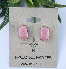 Pink Rhodonite Stud
