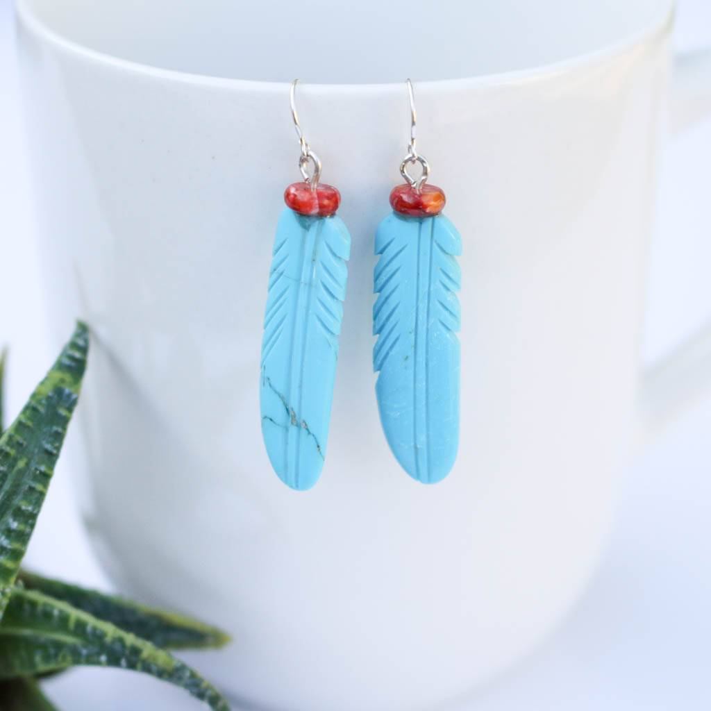 Compressed Feather Earrings