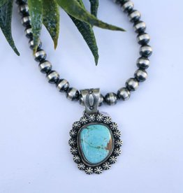 #8 Mine Turquoise Pendant