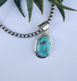 Punchy's Oval Campetos Turquoise Pendant