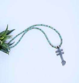 Mixed Mine Turquoise Dragonfly Pendant Necklace