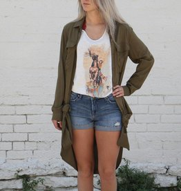 Army Green Jacket Dress